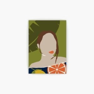 Abstract Girl free wall art