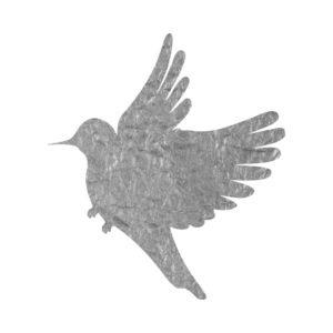 Silver Foil Bird Free Clip Art