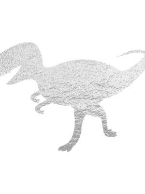 Silver Foil Dinosaur