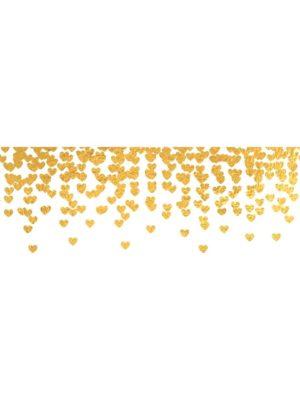 Gold Confetti Border