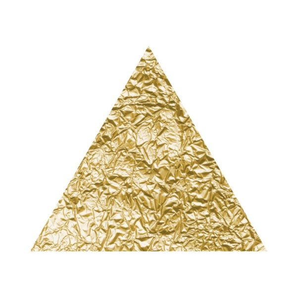 Gold Foil Triangle