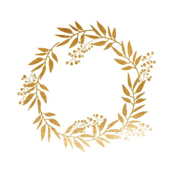Gold Foil Wreath