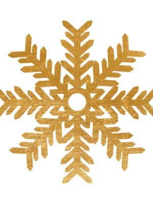 Gold Foil Snowflake