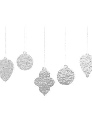 Silver Foil Christmas Decoration