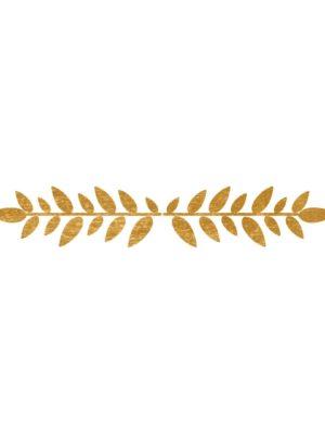 Gold Foil Leaf Border