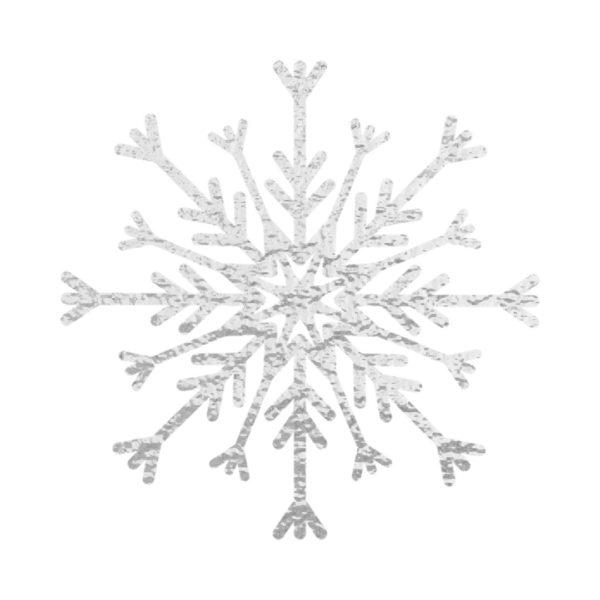 Silver Foil Snowflake
