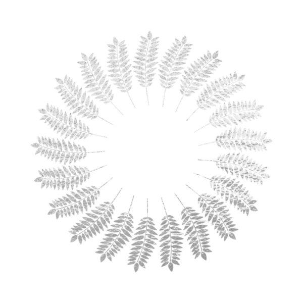 Silver Foil Wreath