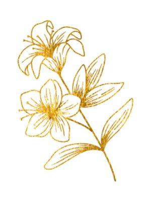 Fine Line Gold Flower 4