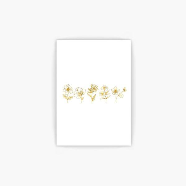 Gold Foil Flower Line