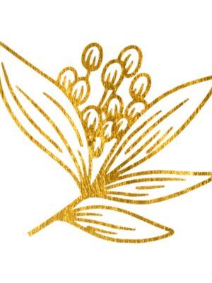 Fine Line Gold Flower 2