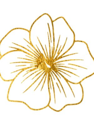 Fine Line Gold Flower 3