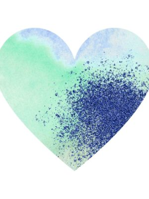 Glitter and Watercolour Heart