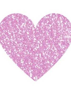 Purple Glitter Heart