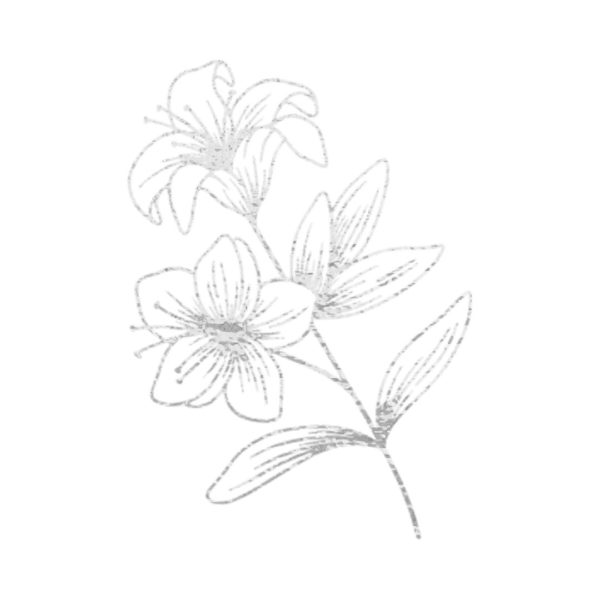 Silver Foil Flower