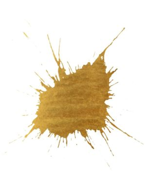 Gold Foil Paint Splash
