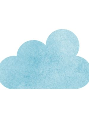 Blue Watercolour Cloud