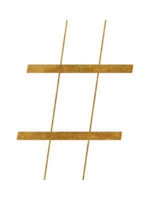 Gold Foil Hashtag