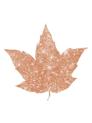 Bronze Glitter Autumn Leaf