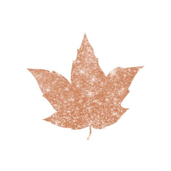 Bronze Glitter Autumn Leaf