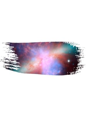 Galaxy Paint Brush Stroke