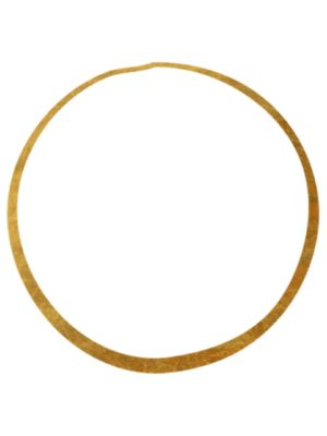 Gold Foil Circle Ring Clipart
