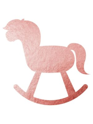 Rose Gold Rocking Horse Clipart Free