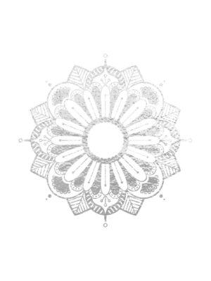 Silver Foil Mandala free clipart