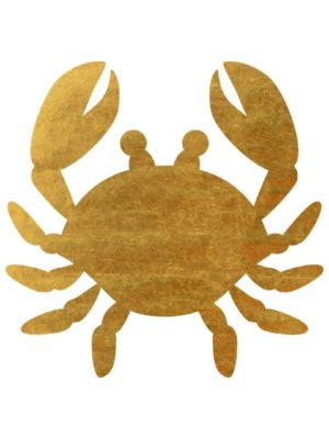 Gold Foil Crab free clipart
