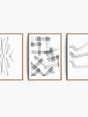 Monochrome Sketch Set Free Prints