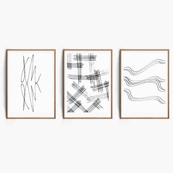 Monochrome Sketch Set Free Prints