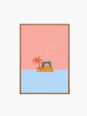 Abstract Island Free Prints