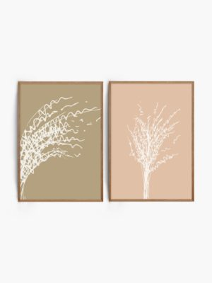 Natural Floral Prints free wall art