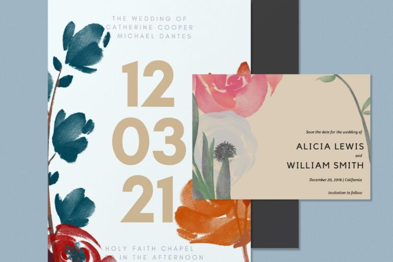 Floral clipart that's perfect for a Wedding Invitation